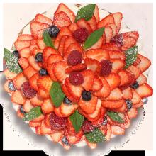 オリジナル苺のホールケーキ